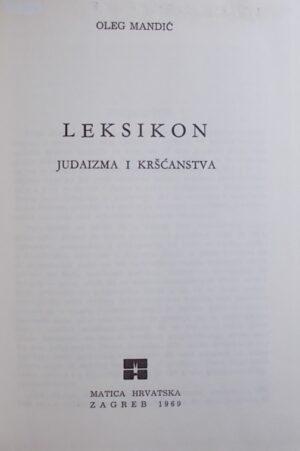 Mandić-Leksikon judaizma i kršćanstva