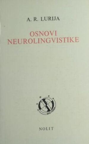 Lurija: Osnovi neurolingvistike